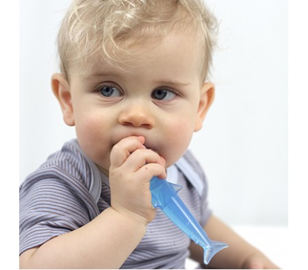 KUSHIES Baby's First Toothbrush BLUE