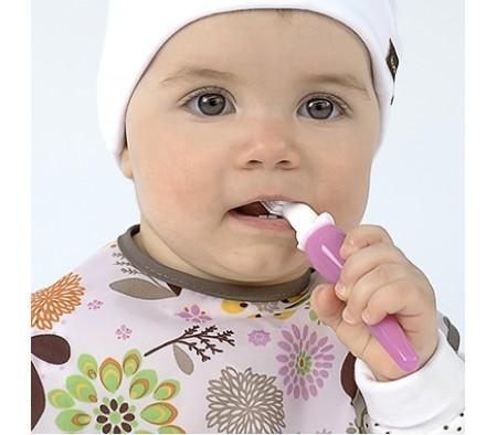 KUSHIES Baby's First Toothbrush PINK