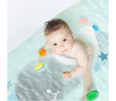KUSHIES Aqua Splash Bath Mat Happy Mermaid