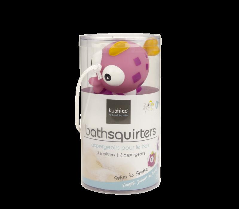 KUSHIES Bath Squirters Swim To Shore 3-Pack