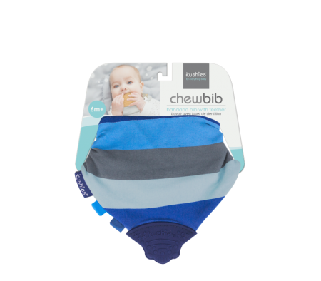 KUSHIES Chew Bib Blue Ray