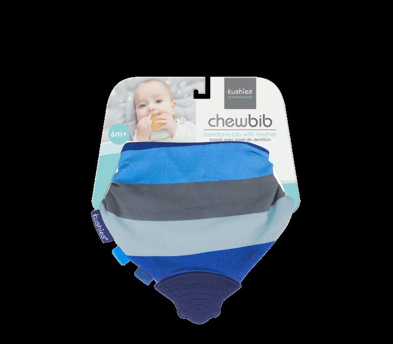 KUSHIES Chew Bib Blue Ray