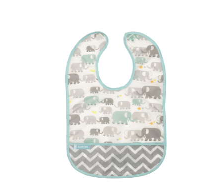 KUSHIES Cleanbib Infant (6-12M)  White Elephants