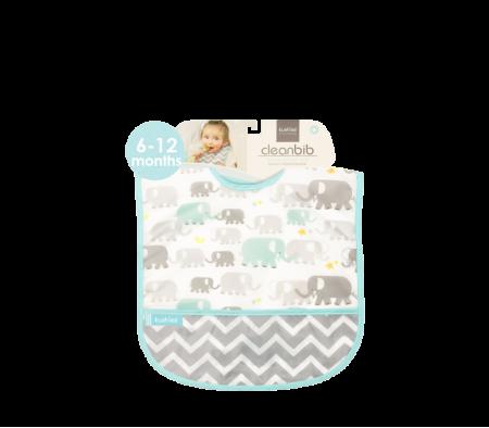 KUSHIES Cleanbib Infant (6-12M)  White Elephants