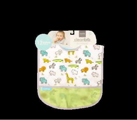 KUSHIES Cleanbib Toddler (12M+)  White Little Safari
