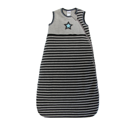 KUSHIES Sleepbag Baby 0+ / Toddler 6-18 months Grey Stripe Star