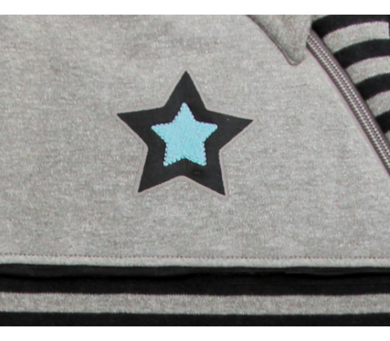 KUSHIES Sleepbag Baby 0+ / Toddler 6-18 months Grey Stripe Star