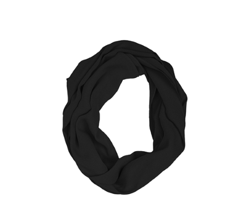 KUSHIES Peekaboob Infinity Nursing Scarf Black