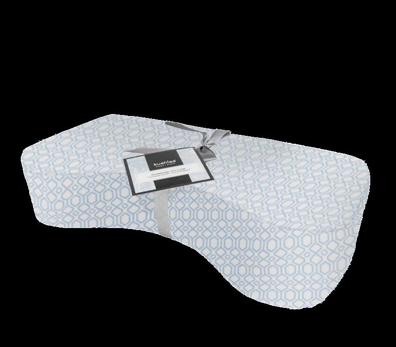 KUSHIES Nursing Pillow Blue Octagon
