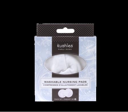 KUSHIES Washable Nursing Pads 6 Per Pack